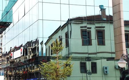 Modern glass building in Macedonia photo