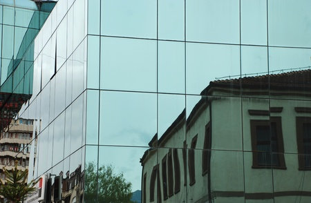 Modern glass building in Macedonia photo