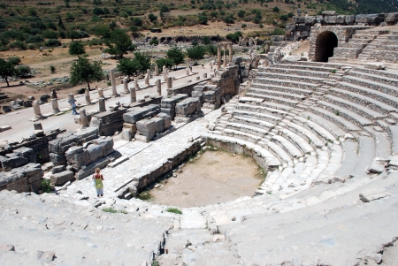 Amphitheater  Coliseum  in Ephesus  Efes  Turkey photo