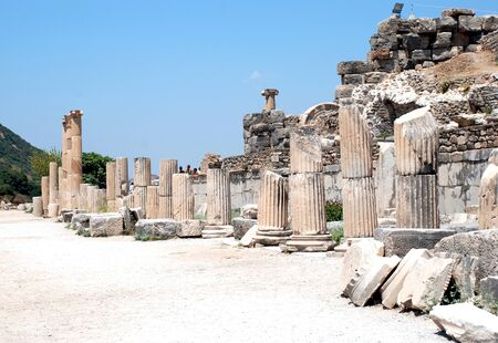 significantly: Pillars at Ephesus, Izmir, Turkey, Middle East