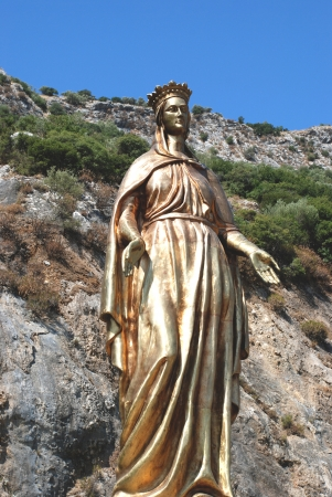 Bronze sculpture of the Virgin Mary in Selcuk, Ephesus, near Izmir, Turkey photo