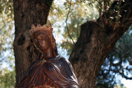Statue of Virgin Mary, Ephesus, Izmir, Turkey photo