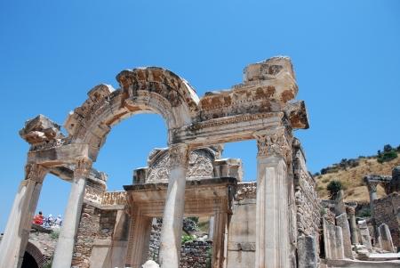 hadrian: Templo de Adriano, �feso, Turqu�a Foto de archivo