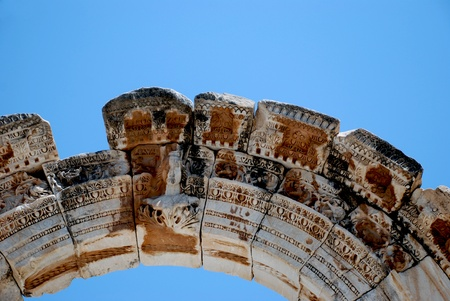 Temple of Hadrian, Ephesus, Turkey photo