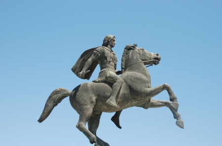 alexander great: Statue of Alexander the Great at Thessaloniki city in Greece