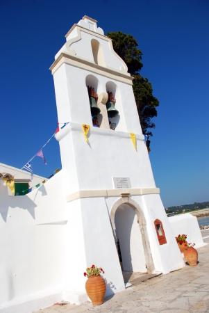 kerkyra: Typical Greek Orthodox Church in Kerkyra, Corfu  Stock Photo