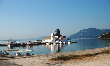 Vlacherna Monastery and Mouse island on Corfu,  photo