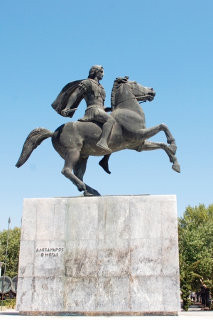 alexander great: Statue of Alexander the Great in Thessaloniki