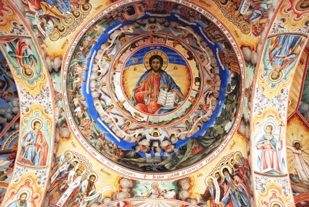 Frescoes on the ceiling of the Christian Orthodox Church Stock Photo - 17522613