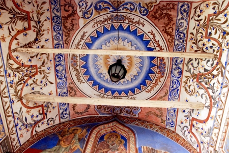 Frescoes on the ceiling of the Christian Orthodox Church Stock Photo - 17839109