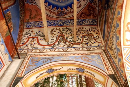 Frescoes on the ceiling of the Christian Orthodox Church Stock Photo - 17839108