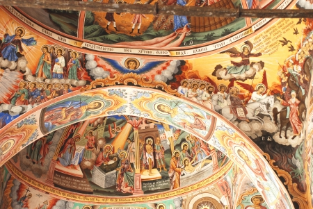 Frescoes on the ceiling of the Christian Orthodox Church Stock Photo - 17914234