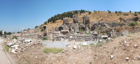 locality: Part on the locality of Ephesus, Izmir, Turkey,panoramic views