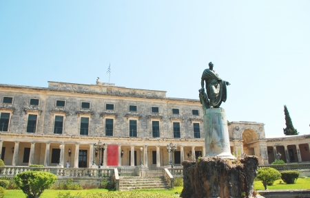 kerkyra: Frederick Adam statue near Palace of Saints Michael and George, Kerkyra, Corfu island, Greece