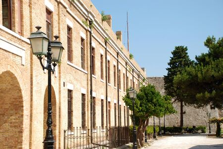 kerkyra: One of the buildings in the old Venetian fortress at Kerkyra, Corfu Island, Greece