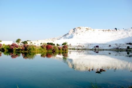 Paysage de Pamukkale, en Turquie,