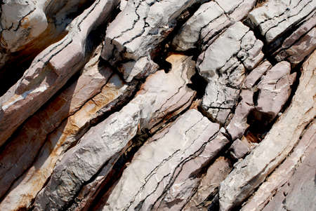 Stratification in nature  Layers in the rocks  Stock Photo - 19606528