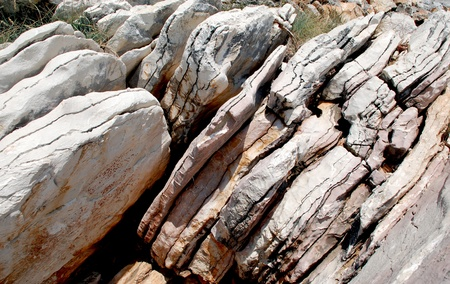Stratification in nature  Layers in the rocks Stock Photo - 19606527