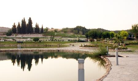 pamuk: Landscape of Pamukkale, Turkey,  Stock Photo