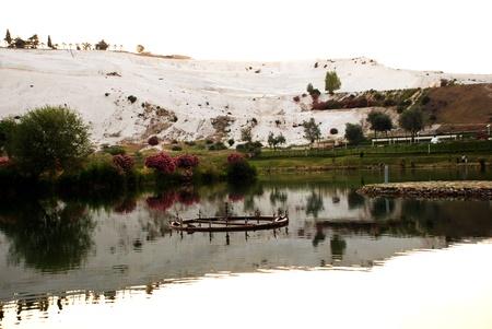 pamuk: Paesaggio di Pamukkale, in Turchia,