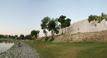 pamukkale: Landscape of Pamukkale, Turkey,