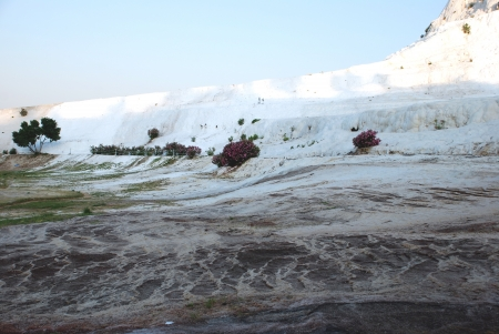 pamuk: Detail of the landscape of Pamukkale  Stock Photo