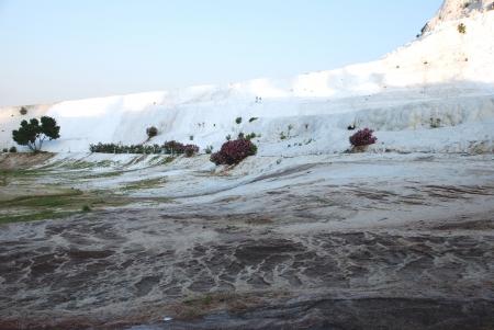 pamuk: Particolare del paesaggio di Pamukkale