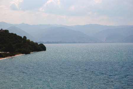 Looking to the lake,  Lake Ohrid, Ohrid, Macedonia photo