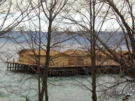 Bay of Bones  Tourist destination in Ohrid Lake, Macedonia  Stock Photo - 23133513