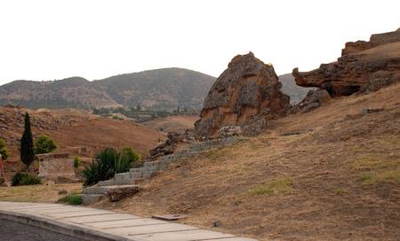 pamuk: Hieropolis frazione, vicino a Kale Pamuk, Turchia