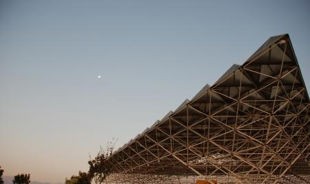 pamuk: Prime ore del mattino su Hieropolis, nei pressi di Pamuk Kale, Turchia