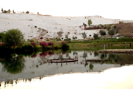 pamuk: Landscape of Pamukkale, Turkey,  Stock Photo