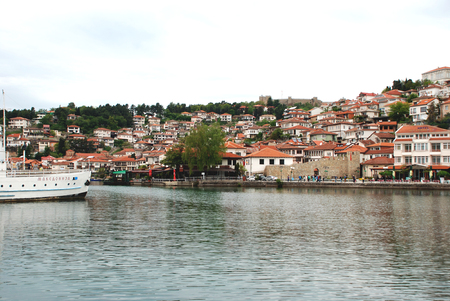 Ohrid lake and an old town of Ohrid