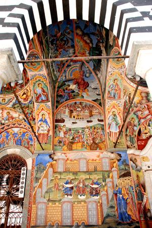 religiosity: Frescoes of the Monastery of St John Rilski, Rila Mountain, Bulgaria