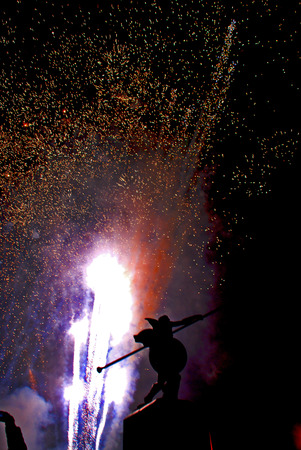 Holiday fireworks in the sky photo