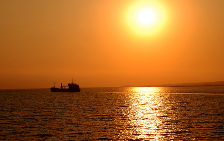 ionian: Sunset of the Ionian Sea Stock Photo