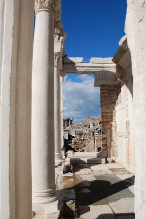 friso: Ruinas de la antigua ciudad griega de Éfeso