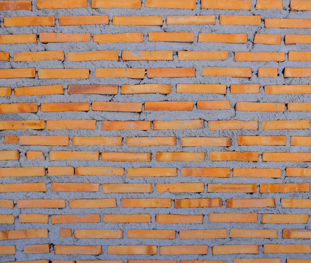 Red brick wall is still being built, Texture background