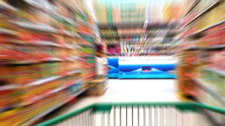 hectic life: Zoom Effect of Super Market Cart in Hypermarket Store