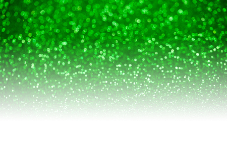 product display: Green glitter surface with green light bokeh - It can be used for background for special occasions promotion campaign or product display