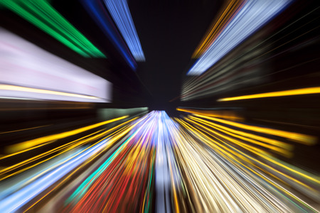 Colorful speed light trails zoom effect - speed concept.