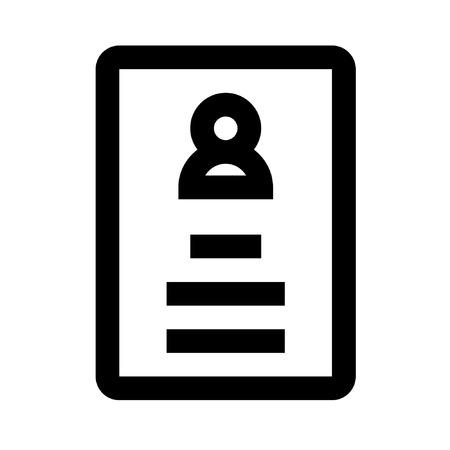 Icon Passport style outline design pixel perfect