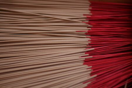 incense sticks: Red Incense sticks Stock Photo