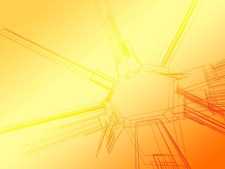 diminishing perspective: Abstract wireframe
