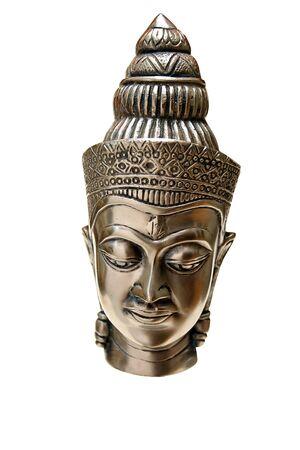 boeddha geïsoleerd op witte achtergrond Stockfoto