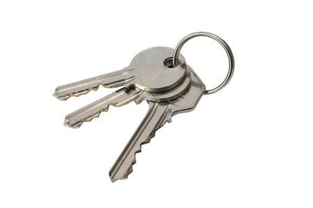 aantal sleutels geïsoleerd op wit terug-grond met clipping path