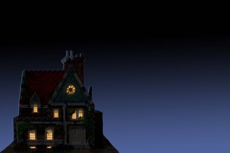 thieving: house in the evening Stock Photo