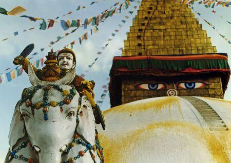tempel Kathmandu Nepal Stockfoto