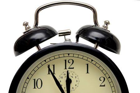 alarm-klok vijf voor twaalf
