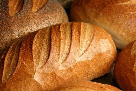 vers brood uit de oven Stockfoto